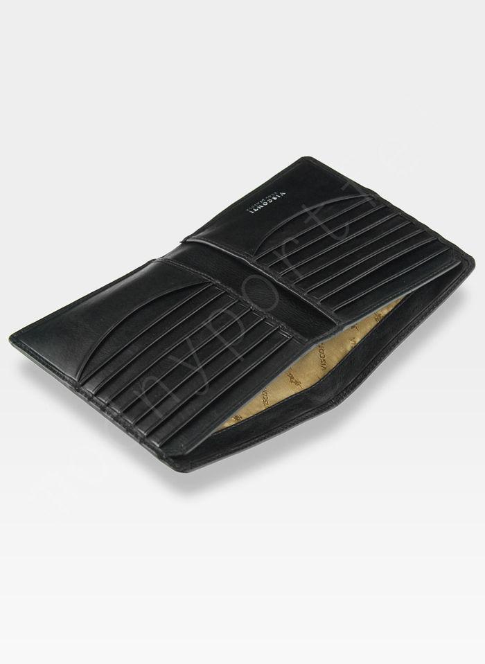 Viscont Bezpieczny Portfel Męski Skórzany Czarny RFID TSC49
