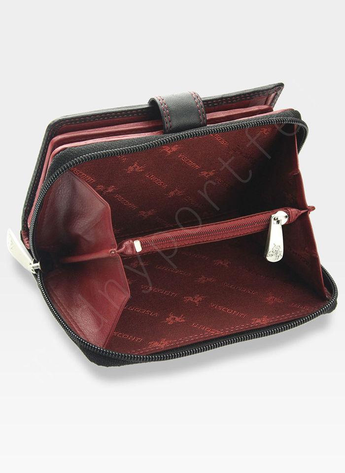 Visconti Portfel Damski Skórzany Colorado CD22 Czerwony