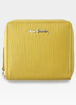 Portfel Damski Pierre Cardin Skórzany Wyjątkowa Faktura Tilak10 MK01 Żółty