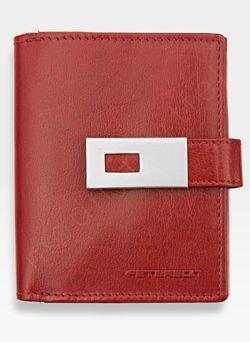 Portfel Damski Skórzany PETERSON 431 Czerwony