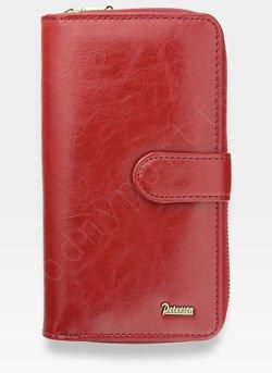 Portfel Damski Skórzany PETERSON Skóra Naturalna Czerwony 603