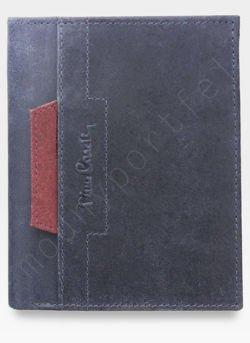 Portfel Męski Pierre Cardin Skórzany Niebieski Pionowy VO02 326