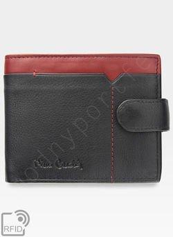 c9aee560262c5 Portfel Męski Pierre Cardin Skórzany Zapinany Czarny + Czerwony Poziomy  RFID 324A Tilak14 324A RFID Nero Rosso Tilak14 324A RFID Nero Rosso