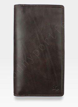 Skórzany Cardholder Portfel Visconti z technologią ochrony RFID