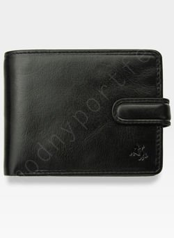 Viscont Bezpieczny Portfel Męski Skórzany Czarny RFID TSC48